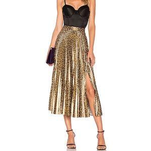 A.L.C leopard metallic Bobby skirt